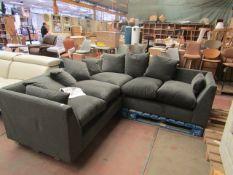 1 x SWOON Dallas 5-Seater MTO Corner Sofa in Granite EasyVelvet RRP £1854 SKU SWO-