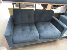 1 x Swoon Berlin Smart Wool Two-seater Sofa in Indigo Light RRP £1199 SKU SWO-