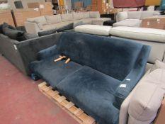 1 x Made.com Ariana 3 Seater Sofa Sapphire Velvet RRP £799 SKU MAD-SOFARI038BLU-UK TOTAL RRP £