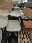 | 2X | COX & COX FAUX LEATHER COUNTER STOOL - GREY | UNCHECKED & LOOKS UNUSED (NO GURANTEE) | RRP