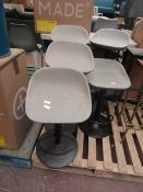 | 1X | COX & COX FAUX LEATHER COUNTER STOOL - GREY | UNCHECKED & LOOKS UNUSED (NO GURANTEE) | RRP