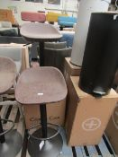 | 2X | COX & COX FAUX LEATHER COUNTER STOOL | LEATHER SLIGHTLY DAMAGED | RRP WHEN A SET OF 2 œ300 |