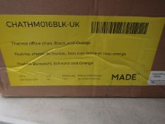 1 x Made.com Thelma office chair Black and Orange RRP £99 SKU MAD-CHATHM016BLK-UK TOTAL RRP £99