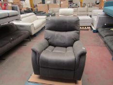 Barcalounger Powered fabric reclining armchair with charging socket, unchecked but in very good
