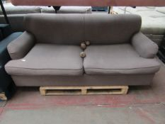 | 1X | MADE.COM 2 SEATER SOFA BED, GRAY | HAS IMPRAFECTIONS & MAY HAVE SCUFF MARKS | RRP ?- |
