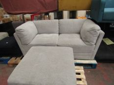 Mstar 3 piece modular sofa set, no major damage, consisits of 2 corner peieces and a foot stool, can