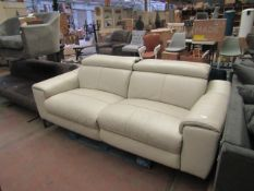 Nicoletti 3 seater recling sofa with adjustable headrests, no major damage.