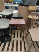 | 1X | COX AND COX CURVED TOP STOOL | NO VISIBLE MAJOR DAMAGE RRP ?225 |