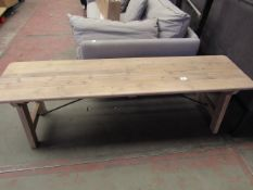1 x Cox & Cox Provence Bench RRP £225 SKU COX-1225272 TOTAL RRP £225 This lot is a completely