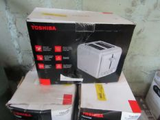 | 7x | TOSHIBA 2-SLICE TOASTER | UNCHECKED & BOXED | NO ONLINE RESALE | SKU C5057172361489 | LOAD
