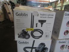2x Goblin Essentials Bagless Vacuum Cleaners - Tested Working & Boxed - RRP £36 - Total RRP £72