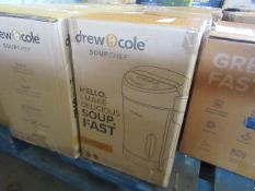 | 5X | DREW AND COLE SOUP CHEF | BOXED AND UNCHECKED | NO ONLINE RESALE | SKU C5060541516809 |