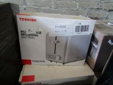 | 5x | TOSHIBA 2-SLICE TOASTER | UNCHECKED & BOXED | NO ONLINE RESALE | SKU C5057172361489 | LOAD