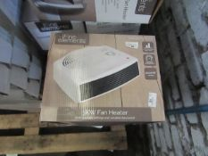 | 5x | FINE ELEMENTS 3KW FAN HEATER WHITE | UNCHECKED & BOXED |NO ONLINE RESALE | SKU C5024996888195