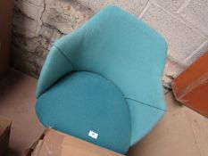1 x Made.com Lule Office Chair Mineral Blue and Emerald Green RRP œ179 SKU MAD-OCHLLE013BLU-UK TOTAL