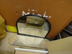 1 x Made.com Arturo Arch Mirror with Marble Shelf, Matte Black & Brown RRP œ99 SKU MAD-