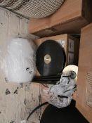 1 x Made.com Ayala Floor Lamp Black Brushed Brass & Opal Glass RRP œ119 SKU MAD-FLPAYA004ZBR-UK