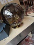 1 x Made.com Ilaria Bathroom Flush Ceiling Light, Olive Glass & Brass RRP œ69 SKU MAD-BLTILA003OLI-
