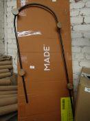   1X   MADE.COM ELAN ARCH MARBLE WALL HOOKS IN MATT BLACK   LOOKS UNUSED (NO GUARATEE)   RRP œ59  