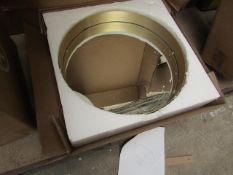 1 x Made.com Alana Round Mirror 50cm Brushed Brass RRP œ119 SKU MAD-MIRALA010ZBS-UK TOTAL RRP œ119