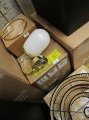 1 x Made.com Carole Wall Lamp White and Brass RRP œ49 SKU MAD-WLPCAR001ZBR-UK TOTAL RRP œ49 This lot
