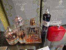 5x various aftershave/perfume, all 40% or lower, see image for style.