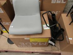 1 x Made.com Set of 2 Sean Adjustable Bar Stools Grey RRP œ129 SKU MAD-BARSEA003GRY-UK TOTAL RRP