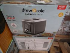   2X   DREW & COLE DUAL HEAT 2 SLICE RAPID TOASTER   UNCHECKED & BOXED   NO ONLINE RESALE   SKU-  
