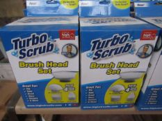   6X   TURBO SCRUB BRUSH HEAD SET BATHROOM ACCESSORY KIT   UNCHECKED AND BOXED   NO ONLINE