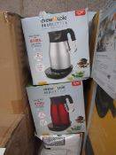   4X   DREW & COLE REDI KETTLE   UNCHECKED AND BOXED   NO ONLINE RESALE   RRP £69.99   TOTAL LOT RRP