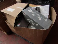 A Pallet of B&Q raw customer return lighting, these types of pallets normally have a mix of