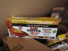   10X   RED COPPER CHEF ELECTRIC MEAL MAKERS   UNCHECKED AND BOXED   NO ONLINE RESALE   SKU