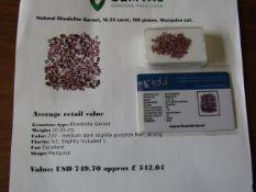 IGL&I certified - Natural Rhodolite Garnets - 10.55 carats - 100 pieces - Average retail value £