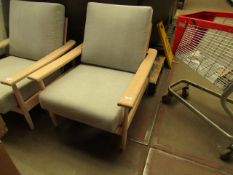 | 1X | COX AND COX OUTDOOR WOODEN AND CUSHIONED CHAIRS | WOOD HAS COME APART AND WILL NEED