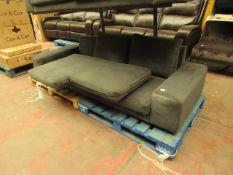 1 x SWOON Tulum Right-Hand MTO Corner Sofa in Fern EasyVelvet RRP œ1599 SKU SWO-