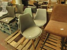 | 2X | MADE.COM THELMA OFFICE CHAIR, GREY | NO DAMAGE IS VISIBLE | RRP £99 | TOTAL LOT RRP £198 |