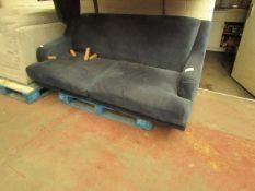 1 x Made.com Ariana 3 Seater Sofa Sapphire Velvet RRP ¶œ799 SKU MAD-SOFARI038BLU-UK TOTAL RRP ¶