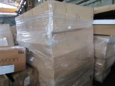   5X   CORNDELL LARGE OPEN HUTCH TOP UNIT   UNCHECKED AND BOXED   RRP CIRCA £545   TOTAL LOT RRP £