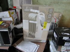 1x Fine elements 650w, 5 fin oil filled radiator - Unchecked Raw Return - RRP £- - Load Ref