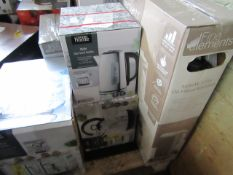   2X   FAST BOIL KETTLES  DESIGN MAY VARY   UNCHECKED RAW RETURNS   RRP £20 EACH   TOTAL LOT RRP £40