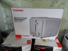   7x   TOSHIBA 2-SLICE TOASTER   UNCHECKED & BOXED   NO ONLINE RESALE   SKU C5057172361489   LOAD