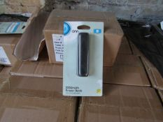   5x   ONN 3350MAH BOX OF 4 POWER BANK WITH MICRO USB CABLE   NEW & BOXED   NO ONLINE RESALE   SKU