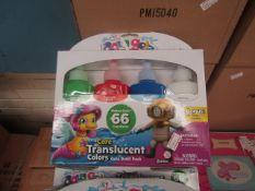 2 x packs of 4 Colours per pack Aqua Gelz Core Translucent Paint Sets new & packaged