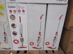 | 4X | GOBLIN WHITE 9 IN 1 MULTIFUNCTIONAL STEAM CLEANER | SKU: 5054781629948 | UNCHECKED AND