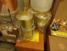 1 x Made.com Salix Set Of Two Plant Stands Brass RRP £49 SKU MAD-IACSAL001BRA-UK TOTAL RRP £49