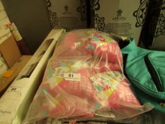 7x Small Pink Cushions - See Image For Design - New & Packaged.