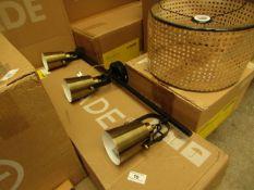 1 x Made.com Seppo Ceiling Bar Lamp Black and Antique Brass RRP £79 SKU MAD-CLPSEP014BLK-UK TOTAL