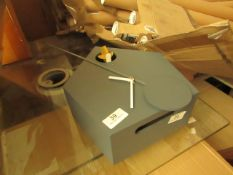   1X   MADE.COM LARK CUCKOO & PENDULUM WALL CLOCK   CHARCOAL GREY   UNCHECKED & NO BOX   RRP £85  