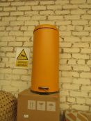   1X   MADE.COM JOSS 30L DOMED PEDDLE BIN   BLUE   UNCHECKED & BOXED   RRP £39  