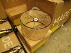 1 x Made.com Sagres Chandelier Lamp Shade Natural Cane & Black RRP £89 SKU MAD-SHDSAG002BLK-UK TOTAL